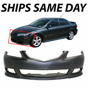New Primered Front Bumper Fascia Replacement For 2003 2005 Mazda 6 Sport 03 05