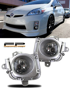 2010 2011 Toyota Prius Fog Lights Clear Lens Front Driving Lamps Complete Kit