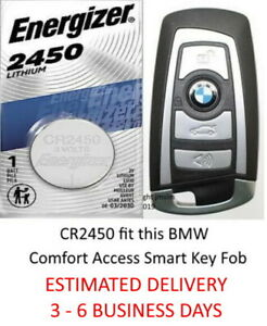 Smart Key Fob Battery Cr2450 For Bmw Comfort Access Keyless Entry Remote
