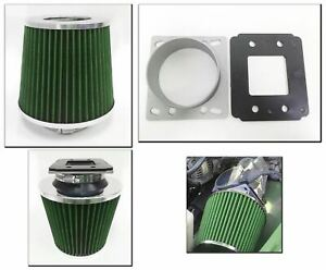 Green Cold Air Intake Filter Maf Adapter For 1995 2004 Toyota Tacoma 2 4 2 7