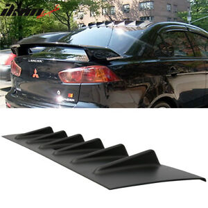 Fits 08 16 Mitsubishi Lancer X Evo 10 Abs Rear Roof V Style Shark Fin Spoiler