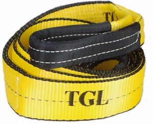 3 X 8ft 30 000 Lb Tree Saver Winch Recovery Tow Pull Strap 4x4 Offroad