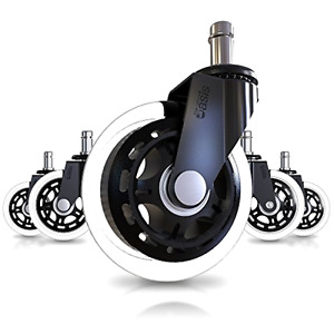 Caster Wheels Office Chair Set Of 5 Heavy Duty Rollerblade Style Universal Fit