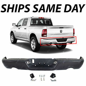 New Primered Rear Step Bumper Assembly For 2009 2018 Dodge Ram 1500 Pickup 09 18