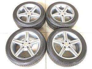17 17 Inch New Oem Spec Mercedes Wheels Rims Tires Set 4 New Tires 2255017