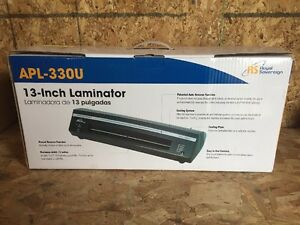 Royal Sovereign Apl 330u 13 Hot And Cold 4 roller Pouch Laminator White D01