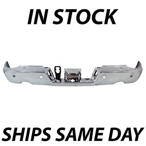 New Chrome Rear Step Bumper Steel Face Bar For 2009 2018 Dodge Ram 1500 W Park