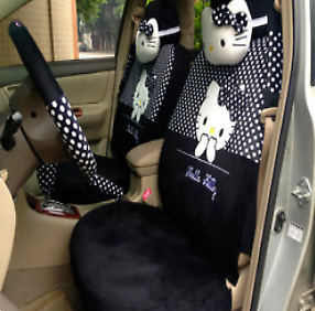2018 New Cute 10 Pcs Hello Kitty Universal Polka Dot Car Seat Covers