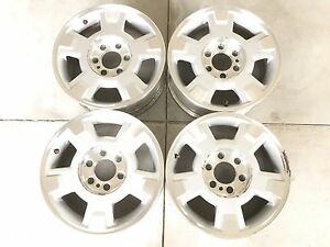 17 17 Inch Oem Factory Ford F150 Expedition Wheels Rims Set 4 Silver 6x135
