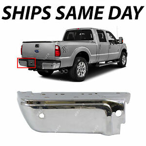 New Chrome Rear Left Lh Bumper End For 2008 2016 Ford F250 F350 Sd 08 16 W Park