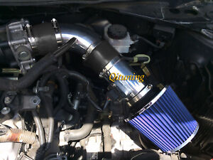 Black Blue 2pc Air Intake System Kit Filter For 2007 2012 Nissan Altima 2 5l L4