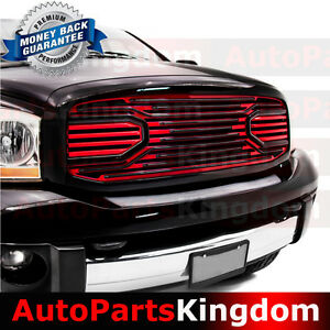 06 08 Ram 1500 06 09 Ram 2500 3500 Big Horn Black Red Packaged Grille Shell