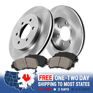 Front Brake Rotors And Ceramic Pads 1993 1994 1995 1996 1997 Toyota Land Cruiser