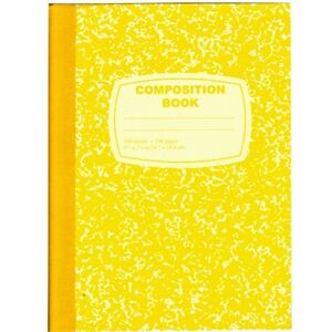 48 Marble Composition Notebooks Yellow Cover back 100 Sheets Wide Rule