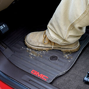 2015 2018 Gmc Canyon Oem Front Rear Crew Cab All Weather Floor Mats Black New