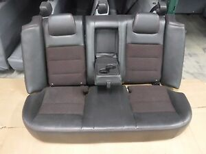 06 09 Ford Fusion Rear 60 40 Split Bench Oem Black Red Leather Cloth Seats