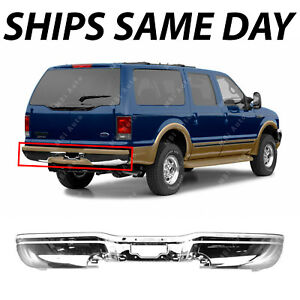 New Chrome Steel Rear Bumper Face Bar Replacement For 2000 2005 Ford Excursion