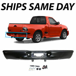 New Primered Steel Rear Step Bumper Assembly For 1997 2003 Ford F150 Truck 97 03