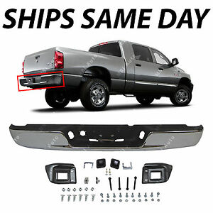 New Chrome Steel Bumper Assembly Replacement For 2003 2009 Dodge Ram 2500 3500