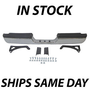 Chrome Steel Rear Bumper Assembly Replacement For 1994 2002 Dodge Ram 1500 2500