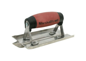 Marshalltown 14102 Stainless Steel Durasoft Handle Concrete Groover 6 Lx3 W In