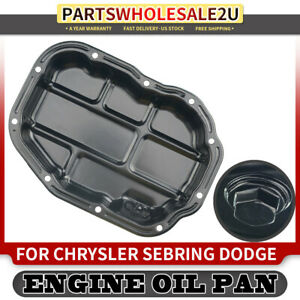 Engine Oil Pan For 01 05 Chrysler Sebring Dodge 99 05 Mitsubishi Eclipse Crp37a