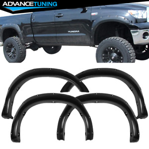 For 07 13 Toyota Tundra Pocket Fender Flares Gloss Black Abs