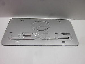 Lexus Chrome Mirror License Plate Auto Tag