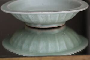 Antique Chinese Porcelain Southern Song Dynasty Lonquan Celadon Twin Fish Dish