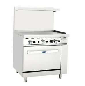 36 Inch Wide Atosa Natural Gas 3 Foot Griddle Top With 26 5 Full Sized Oven