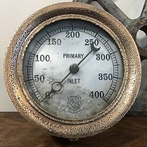 Vintage Ashcroft Primary Inlet Locomotive Boiler Steam Engine Gauge Industrial