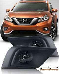 For 2015 2016 2017 Nissan Murano Clear Lens Fog Lights Complete Kit With Harness