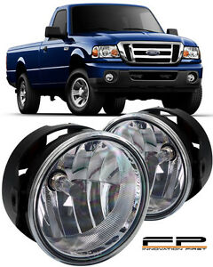 For 2008 2011 Ford Ranger Clear Replacement Fog Lights Housing Assembly Par