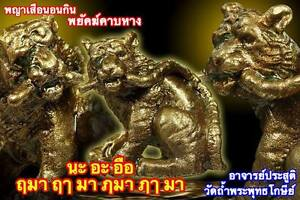 Thai Amulets Soa 5 Tiger Holding Sword Lucky Talisman Good Fortune Copper