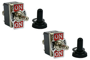 2 Pc Temco 20a 125v on off on Dpdt 6 Terminal Toggle Switch Momentary Boot