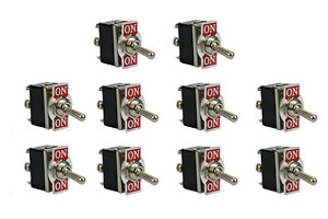10 Pc Temco Heavy Duty 20a 125v On on Dpdt 6 Terminal Toggle Switch