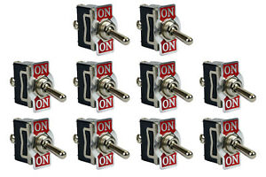 10 Pc Temco Heavy Duty 20a 125v On on Spdt 3 Terminal Toggle Switch