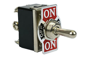 Temco Heavy Duty 20a 125v On off on Dpdt 6 Terminal Toggle Switch