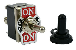 20a 125v Toggle Switch On off on Dpdt 6 Terminal Momentary 1 Side boot