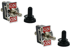 2 Pc Temco 20a 125v on off on Spdt 3 Terminal Toggle Switch Momentary Boot