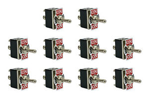 10 Pc Temco Heavy Duty 20a 125v On off on Dpdt 6 Terminal Toggle Switch