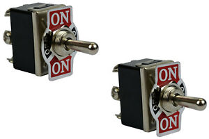 2 Pc Temco 20a 125v on off on Dpdt 6 Terminal Toggle Switch Momentary