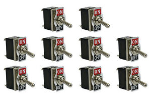 10 Pc Temco Heavy Duty 20a 125v On off Dpst 4 Terminal Toggle Switch