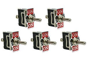 5 Pc Temco 20a 125v on off on Spdt 3 Terminal Toggle Switch Momentary
