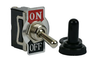 Temco Heavy Duty 20a 125v On off Spst 2 Terminal Toggle Switch Waterproof Boot