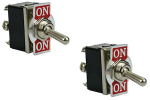 2 Pc Temco Heavy Duty 20a 125v On on Dpdt 6 Terminal Toggle Switch