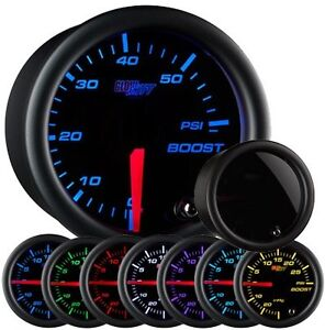 Glow Shift Tinted 7 Color 60 Psi Boost Gauge Gs T70160 Smoked Face Glowshift