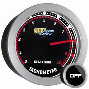 52mm Glowshift Tinted Series Tachometer Tach 10 000 Rpm Gauge Gs T10
