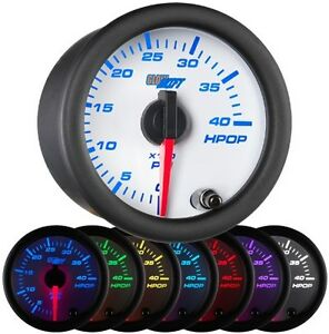 Glowshift 52mm White 7 Color Hpop High Pressure Oil Pressure Gauge Gs w721
