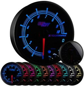 95mm Glowshift Elite 10 Color In Dash Tachometer W Shift Light Gs Et16